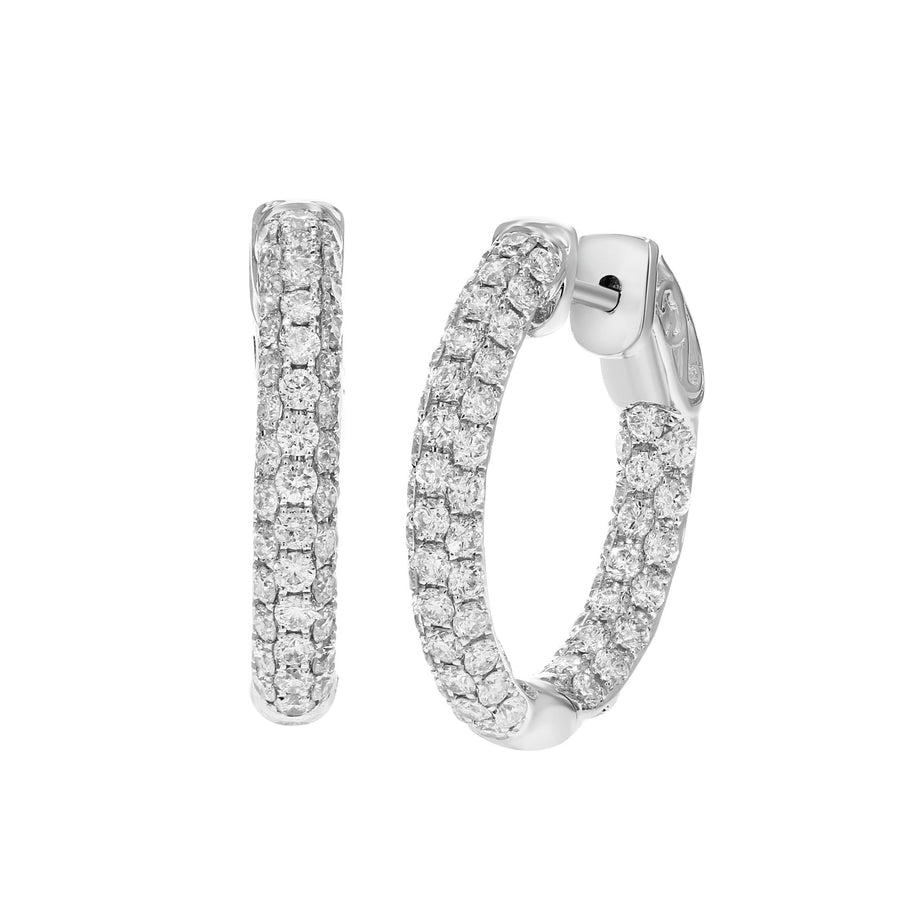 Diamond Pavé Hoop Earrings - R&R Jewelers