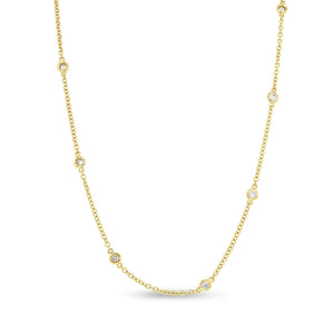 Round Diamond Station Necklace - R&R Jewelers