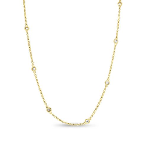 18K Yellow Gold Diamond Necklace, 0.52 Carats