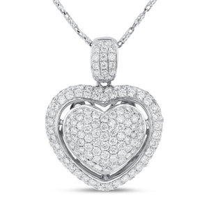 Diamond Pavé Heart Pendant - R&R Jewelers