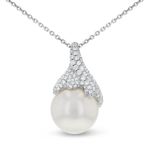 18K White Gold Pendants, 14.92 Carats