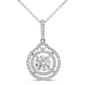 18K White Gold Diamond Pendant, 2.33 Carats - R&R Jewelers