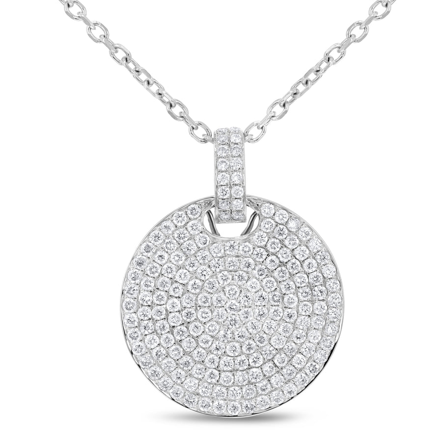 Diamond Pave Disc Pendant - R&R Jewelers