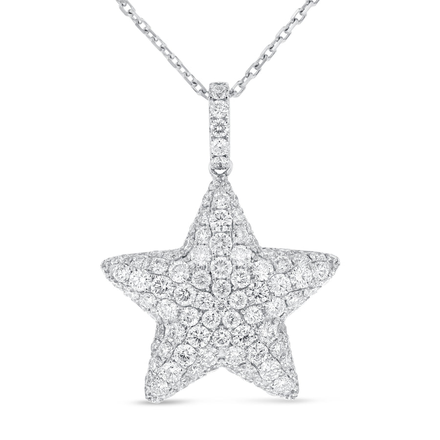 Diamond Pavé Star Pendant - R&R Jewelers