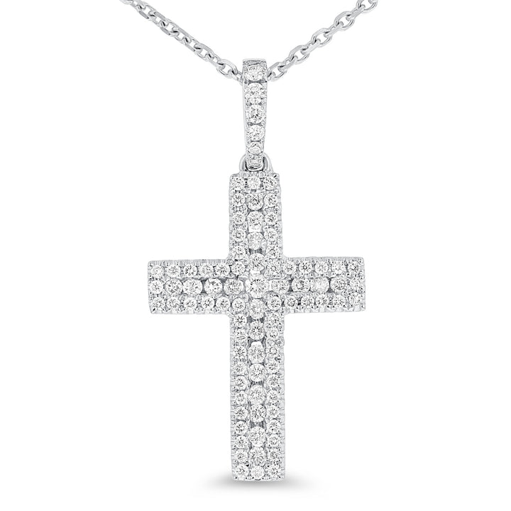 Diamond Pavé Cross Pendant - R&R Jewelers