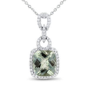 18K White Gold Diamond and Gem Pendant, 4.76 Carats - R&R Jewelers