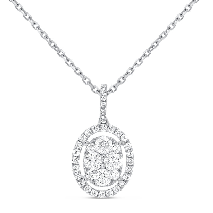 Diamond Cluster Pendant - R&R Jewelers