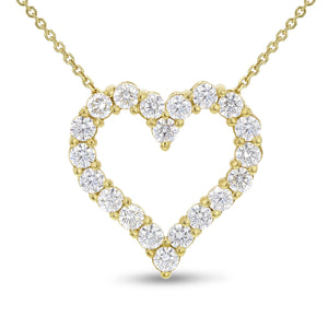 Open Heart Diamond Pendant - R&R Jewelers