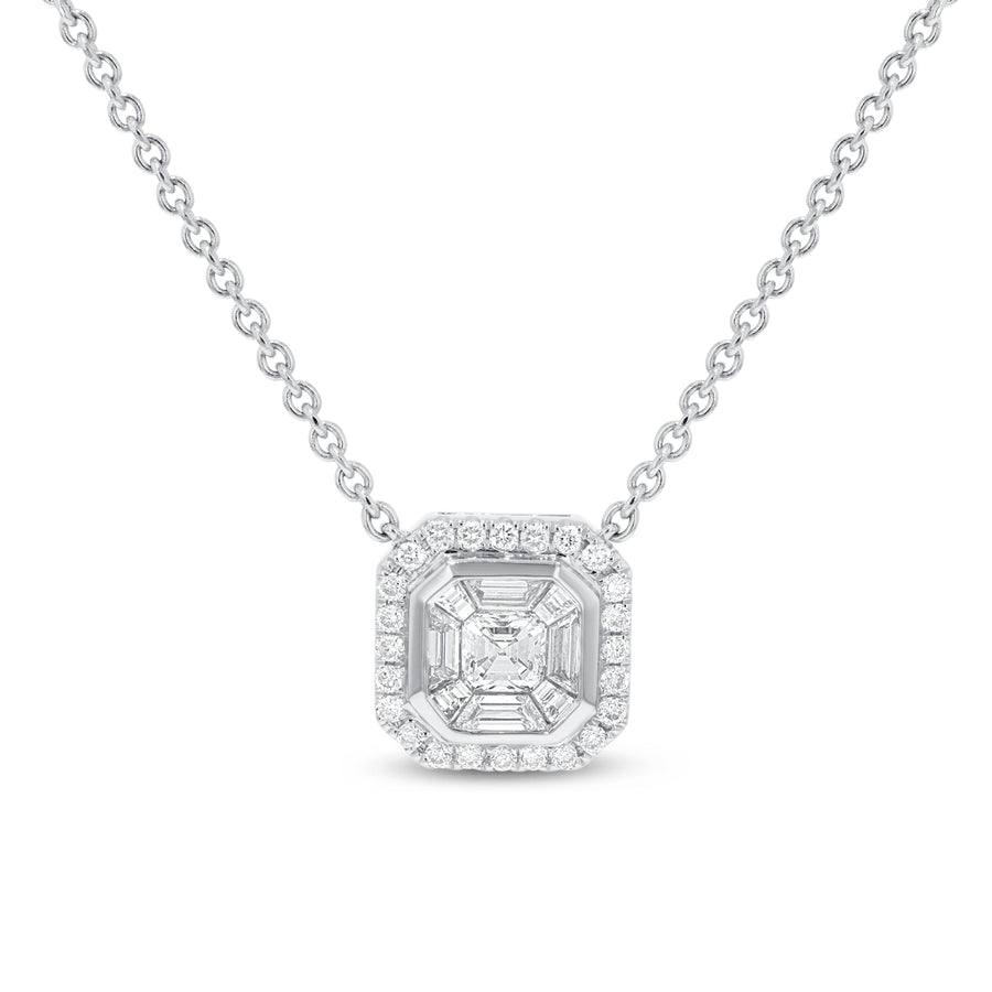 Diamond Illusion Set Pendant - R&R Jewelers