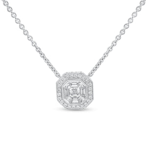 Illusion Set Diamond Pendant - R&R Jewelers