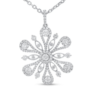Diamond Snowflake Pendant - R&R Jewelers