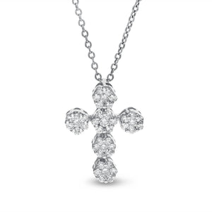 Diamond Cluster Cross Pendant - R&R Jewelers