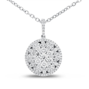 18K White Gold Diamond Pendant, 1.44 Carats - R&R Jewelers