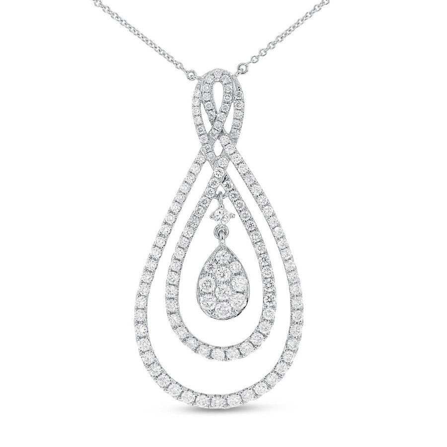 Diamond Tear Drop Pendant - R&R Jewelers