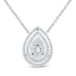 Diamond Pear Shape Illusion Set Pendant - R&R Jewelers