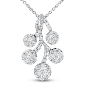 Diamond Leaf Drop Pendant - R&R Jewelers