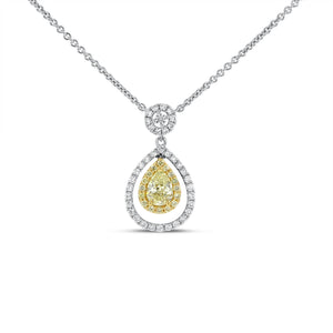 Yellow Diamond Drop Pendant - R&R Jewelers