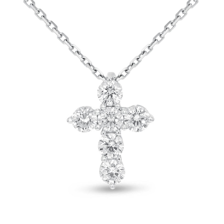 Round Brilliant Diamond Cross - R&R Jewelers