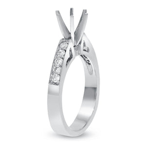 Six Prong Diamond Semi Mount Ring in Platinum - R&R Jewelers
