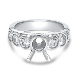 Bezel Set Diamond Semi Mount Ring - R&R Jewelers