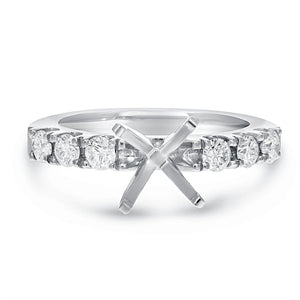 Diamond Semi Mount Ring in Platinum - R&R Jewelers