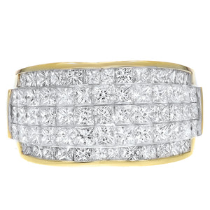 18K Yellow Gold Statement Ring, 4.01 Carats