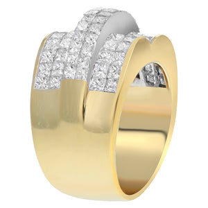 18K Yellow Gold Statement Ring, 4.25 Carats