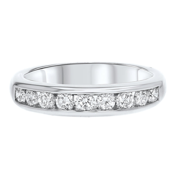 18K White Gold Diamond Wedding Band, 0.63 Carats - R&R Jewelers