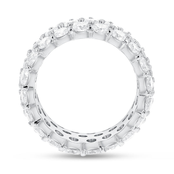 18K White Gold Statement Ring, 7.76 Carats