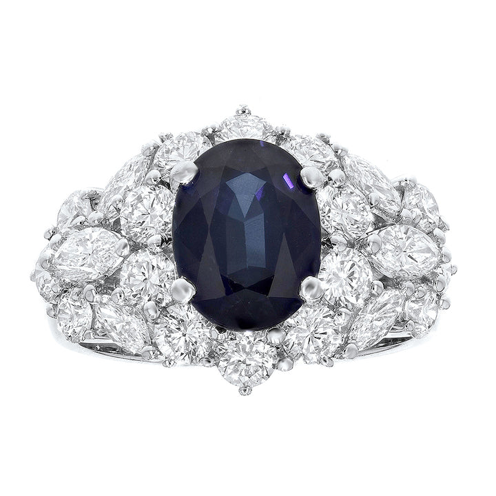 Diamond and Sapphire Statement Ring - R&R Jewelers