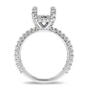 18K White Gold Semi-mount Ring, 0.60 Carats - R&R Jewelers