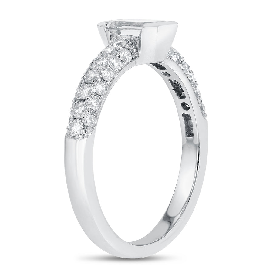 Emerald Cut Diamond Engagement Ring - R&R Jewelers