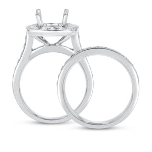18K White Gold Wedding and Engagement Ring Set, 1.27 Carats - R&R Jewelers