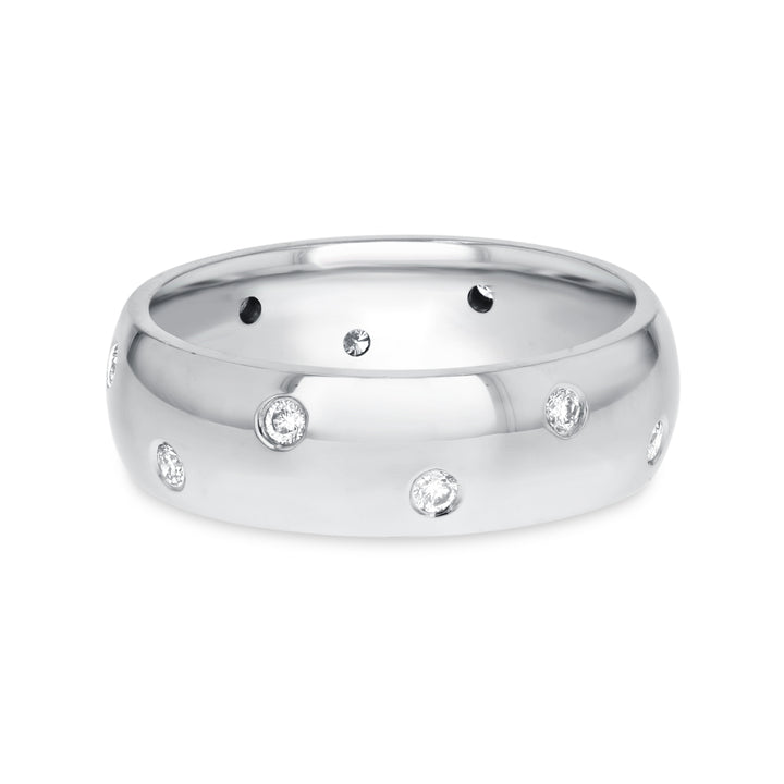 14K White Gold Mens Ring, 0.20 Carats