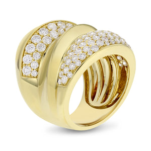 18K Yellow Gold Statement Ring, 2.49 Carats