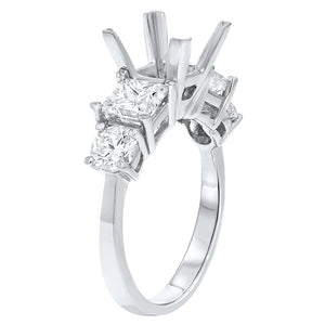 18K White Gold Semi-mount Ring, 2.25 Carats - R&R Jewelers