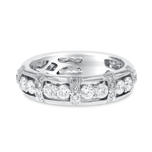 Diamond White Gold Eternity Band, 1.50 Carats - R&R Jewelers