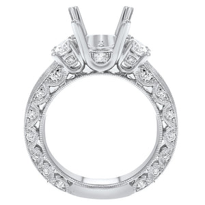 18K White Gold Semi-mount Ring, 1.49 Carats - R&R Jewelers