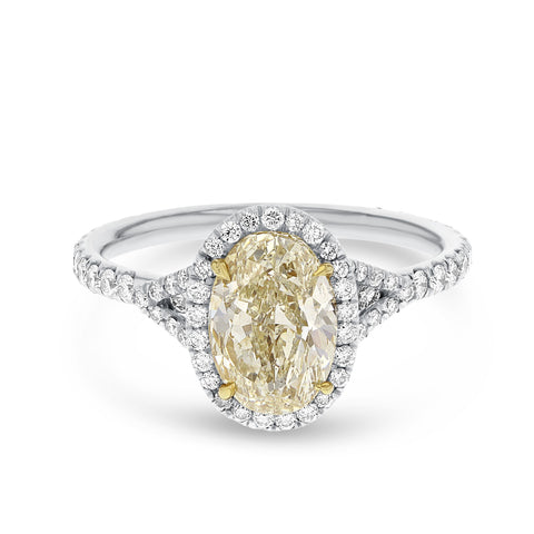 PL18 Yellow Gold Diamond and Gemstone Ring, 2.15 Carats