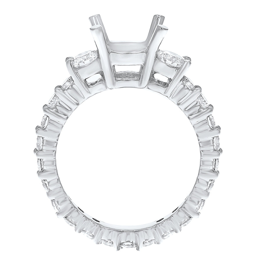 Diamond Eternity Semi Mount Ring - R&R Jewelers