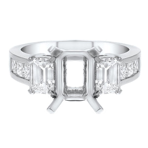18K White Gold Semi-mount Ring, 1.81 Carats - R&R Jewelers