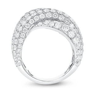 18K White Gold Statement Ring, 6.44 Carats - R&R Jewelers