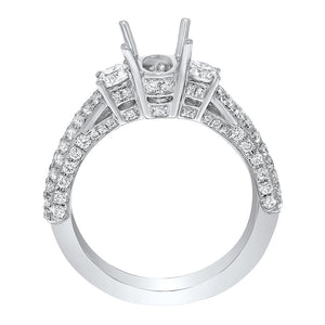18K White Gold Semi-mount Ring, 1.10 Carats - R&R Jewelers