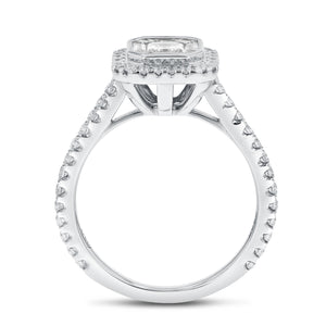 18K White Gold Engagement Ring, 0.96 Carats