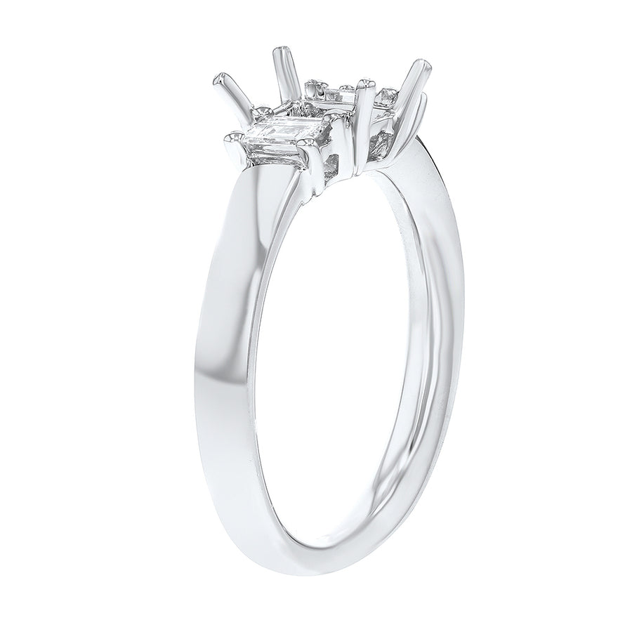Three Stone Diamond Semi Mount Ring - R&R Jewelers