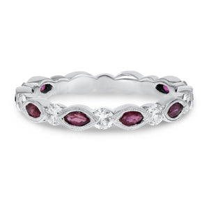 18K White Gold Diamond and Gemstone Ring, 1.17 Carats - R&R Jewelers
