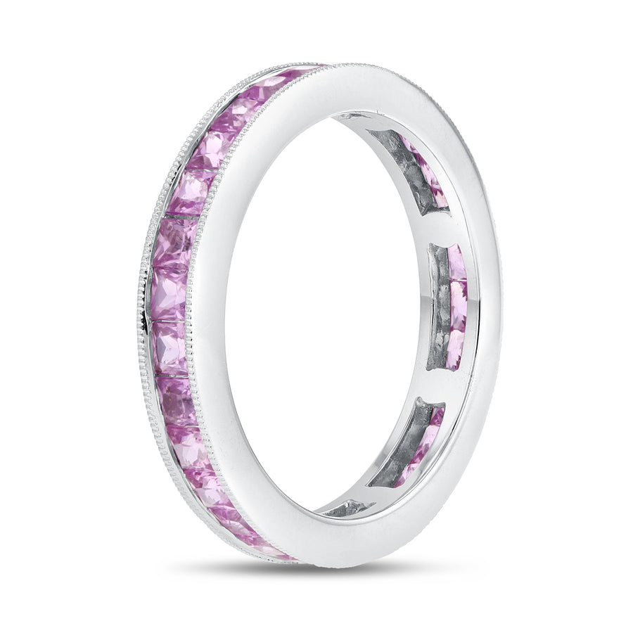 Channel Set Pink Sapphire Eternity Band - R&R Jewelers