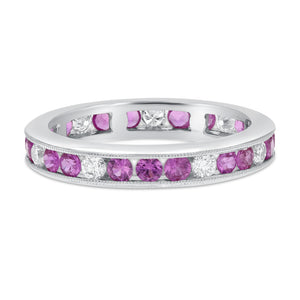 18K White Gold Diamond and Gemstone Ring, 1.37 Carats