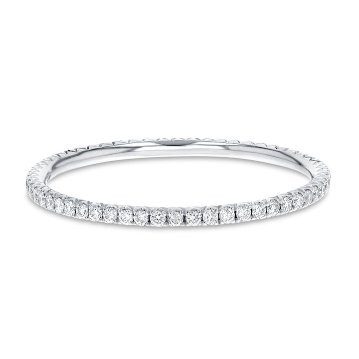 Diamond White Gold Petite Eternity Band, 0.24 Carats - R&R Jewelers