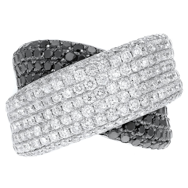 Diamond Crossover Statement Ring - R&R Jewelers